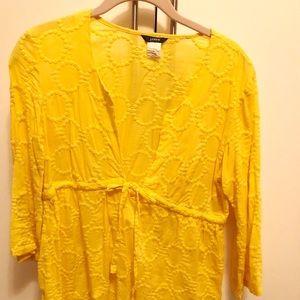 J. Crew cotton yellow top